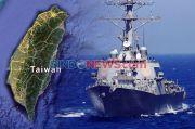 Kapal Perang AS Lintasi Selat Taiwan Setelah Peringatkan Invasi China
