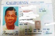 Seorang Pengemudi di AS Gunakan SIM Palsu dengan Foto Presiden Duterte