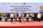 Mentan, Mendag dan Menteri BUMN Lepas Ekspor Produk Pertanian Jatim Senilai Rp140 Miliar