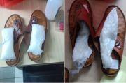 Kelabuhi Petugas, Sabu 1 Kg Disembunyikan Sindikat di Alas Kaki Sepatu dan Sandal