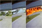 Mengerikan! Pesawat Tabrak Mobil Berisi Ibu dan Anak, Dua Tewas