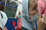 Kaca KRL Commuter Line Ditimpuk Batu, Wanita Berhijab Terluka