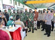 Persiapan Mudik Lebaran, Panglima TNI dan Kapolri Cek Vaksinasi di Semarang