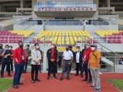 Diajak Walikota Solo Tinjau GOR Indoor Manahan, Menpora Amali Apresiasi Pembangunan GOR Berstandar Internasional