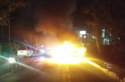 Hendak Isi BBM, Mobil Ini Diusir Petugas SPBU Lalu Meledak dan Terbakar