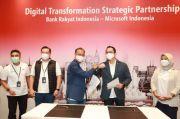 Transformasi Operasi Layanan dan Kultur, BRI Jalin Kerja Sama dengan Microsoft
