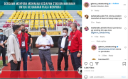 Gibran Tinjau Stadion Manahan, Netizen Minta Lampu dan Atap Model Tertutup