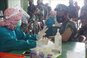 Ratusan Prajurit TNI dan PNS Kodim Pekalongan Sudah Divaksinasi Tahap II