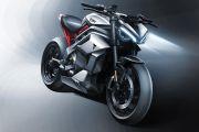Triumph Tebar Sketsa Awal Motor Listrik Futuristik