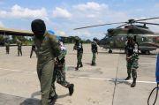 Helikopter Milik Perusahaan Minyak Asing Dipaksa Mendarat Oleh F-16 TNI AU