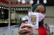 Harga Emas Antam di Akhir Pekan Kembali Menyusut Rp3.000 per Gram