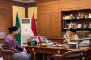 Temui Ketum PBNU, Gus Abe: PMII Siap Perjuangkan Islam Moderat dan Aswaja di Kampus