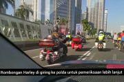 Gunakan Rotator, Rombongan Moge Digiring ke Mapolda Metro Jaya