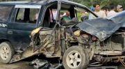 Kecelakaan Beruntun di Jalinsum Batu Bara, Supir dan Penumpang Terjepit Mobil