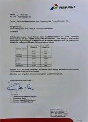 Mulai 1 April, Harga BBM di Sumut Naik Rp200 Per Liter