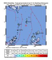 Talaud Diguncang Gempa Tektonik M5,5 Tidak Berpotensi Tsunami
