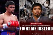 Manny Pacquiao Murka: Stop Serang Orang Asia, Lawan Aku Gantinya!