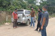 Polres Bungo Olah TKP Pasca Kasus Perusakan Mobil Kontributor iNews TV