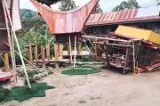 Rumah Adat di Toraja Utara Roboh Diterjang Puting Beliung