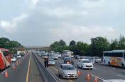 Arus Balik Libur Paskah di Tol Cikampek Mulai Macet, Petugas Lakukan Contra Flow