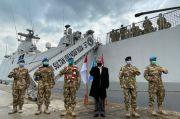 Kapal Perang Indonesia Merapat di Pelabuhan Beirut Lebanon