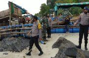 54 Ponton Tambang Laut Ilegal di Perairan Toboali Diamankan Polisi