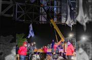 Bahayakan Pengendara, Material Papan Reklame di Kabupaten Gowa Dibersihkan