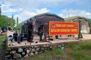 Bantu Korban Bencana, Marinir Dirikan Posko Kesehatan di Lewoleba Lembata, NTT
