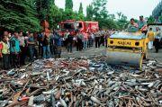 Resahkan Masyarakat, Polisi Musnahkan Puluhan Knalpot Bising