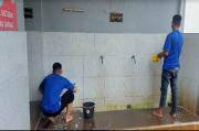 Jelang Ramadan, Warga Binaan Rutan Salatiga Bersih-Bersih Masjid