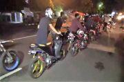 Bubarkan Balapan Liar, Polisi dan Tentara di Gowa Amankan Ratusan Sepeda Motor
