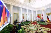 Jokowi-Merkel Tukar Pikiran Soal Penanganan Pandemi Covid-19