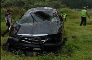 Mini Bus Avanza Terguling di Ruas Tol Tebing Tinggi, 3 Tewas dan 2 Luka-luka