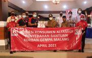 Peduli Korban Gempa Malang, Donasi Konsumen Alfamidi Kirimkan Bantuan