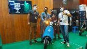 Mampir ke IIMS Hybrid 2021, Sandiaga Uno Diminta Resmikan Benelli Panarea dan Benelli Dong