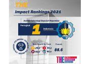 Peringkat ITS di THE Impact Rangking 2021 Melesat Tajam