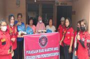Hari Kartini, Srikandi PBB Bagikan Sembako untuk Kaum Janda