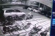 Hanya 10 Detik, Maling Gasak Motor di Parkiran Hotel Serpong
