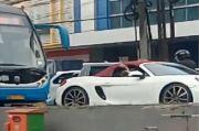 Polisi Ciduk Pengemudi Mobil Mewah yang Terobos Jalur Bus Transjakarta