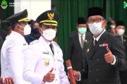 Lantik Bupati-Wakil Bupati Bandung dan Tasikmalaya, Ridwan Kamil: Jaga Kekompakan