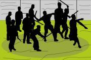 Polisi Bubarkan Tawuran di Kota Bambu Utara Palmerah Jakarta Barat