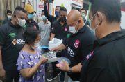 Baja Perindo Berbagi Keberkahan dengan Tebar Makanan, Masker dan Face Shield di Pasar Rumput