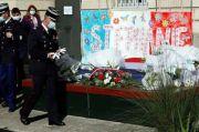 Warga Prancis, Imam dan Polisi Beri Penghormatan kepada Polwan yang Dibunuh