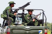 Dua Pangkalan Udara Myanmar Dihantam Roket
