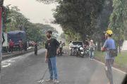 Gagal Menyalip, Pemotor Tewas Terlindas Truk Tangki Air di Sentul Bogor