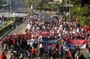 Aksi May Day Hari Ini di Jakarta, Polisi Lakukan Pengalihan Arus Lalu Lintas di Sejumlah Ruas Jalan