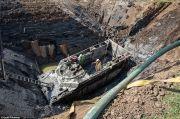Terkubur Selama 74 Tahun, Tank Buffalo LVT-4 Masih Dalam Kondisi Baik