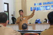 Pimpin Rapat Tanpa Masker, Bupati Radiapoh Dinilai Melanggar Prokes