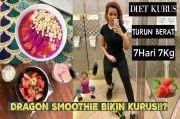 Dinda Shafay Berbagi Tips Diet dan Resep Dragon Fruit Smoothie Bowl