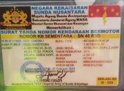 Cuma Ada di Indonesia, STNK Kekaisaran Sunda Nusantara dengan Nopol SN 45 RSD